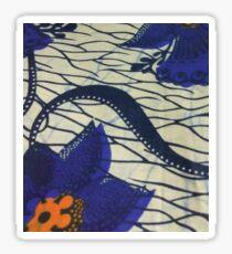 African Blue Flower Sticker