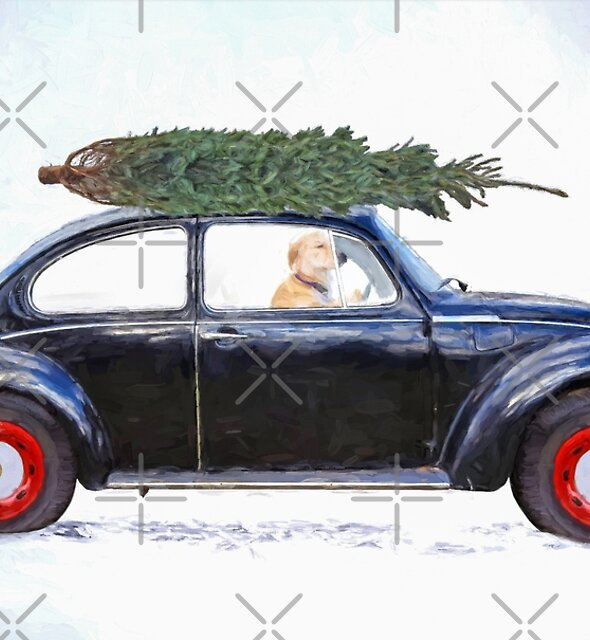Christmas Tree Car by Maria Dryfhout