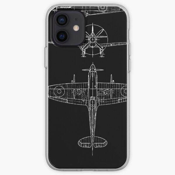 Spitfire aircraft blueprints iPhone Soft Case