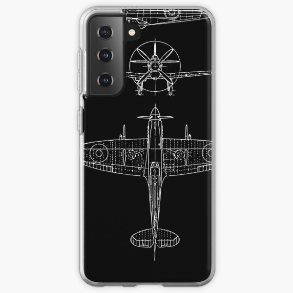 Spitfire aircraft blueprints Samsung Galaxy Soft Case