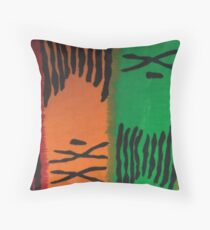 Colorful Mudcloth Throw Pillow
