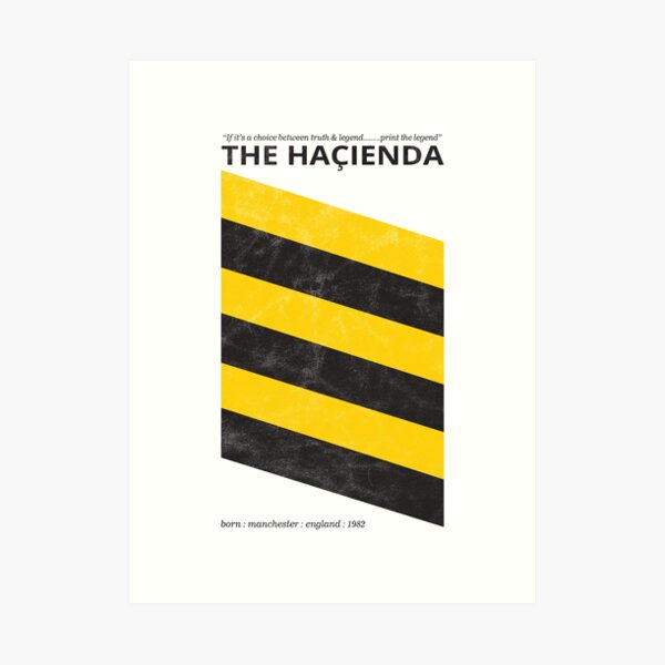 Hacienda - Factory - Retro Distressed Shirt Art Print