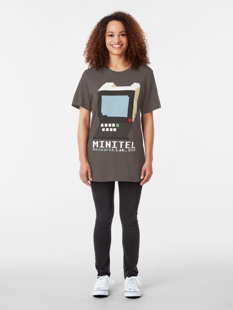 Alternate view of Minitel Research Lab, USA T-shirt Slim Fit T-Shirt