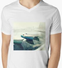 Boat In A Blizzard, Woods Hole Men's V-Neck T-Shirt