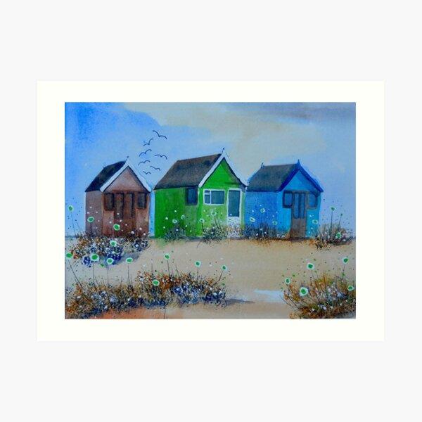 Beach Huts 1 Art Print