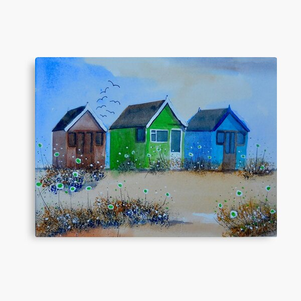 Beach Huts 1 Canvas Print