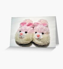 Bunny Slippers Greeting Card