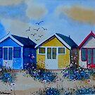 Beach Huts 2 by FrancesArt