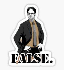 Dwight Schrute- False Pegatina