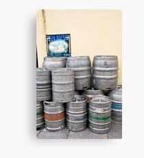 Beer barrels Canvas Print