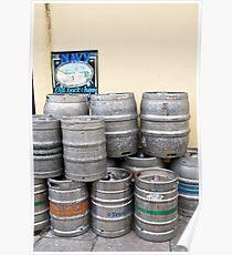 Beer barrels Poster