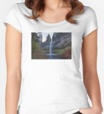 South Falls at Silver Falls State Park Oregon Women's Fitted Scoop T-Shirt