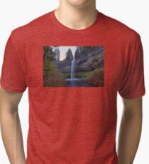 South Falls at Silver Falls State Park Oregon Tri-blend T-Shirt