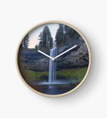 South Falls at Silver Falls State Park Oregon Clock