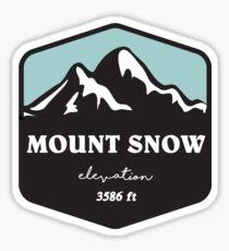 mount snow ski skiing hiking climbing biking snow snowboarding Sticker