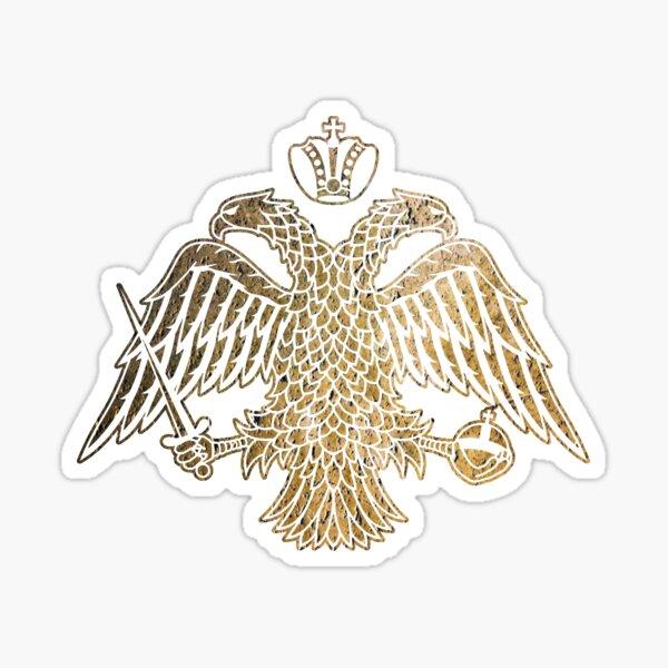 BYZANTINE DOUBLE HEADED EAGLE EMBLEM Sticker