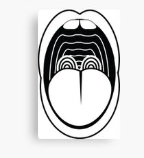 Expressionist Mouth Canvas Print