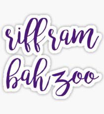 riff ram bah zoo - texas christian university / tcu Sticker