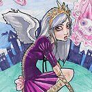 Märchen inspirierte Prinzessin mit rosa Rauch von shethatisnau