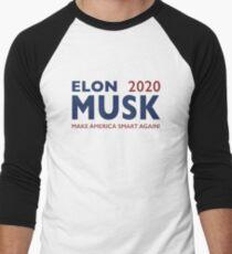 Elon Musk 2020 - Make America Smart Again! Men's Baseball ¾ T-Shirt