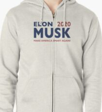 Elon Musk 2020 - Make America Smart Again! Zipped Hoodie