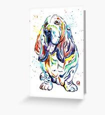 Basset Hound - Basset Hound Walk 2016 Greeting Card