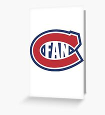 Montreal Canadians Fan Greeting Card