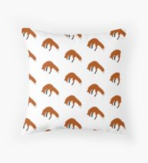 Red Fox Pouncing Throw Pillow
