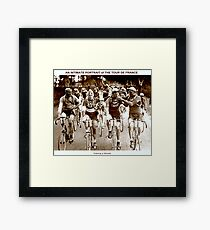 TOUR DE FRANCE; Vintage Cycle Racing Advertising Photo Framed Print