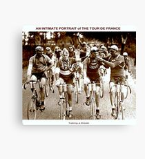 TOUR DE FRANCE; Vintage Cycle Racing Advertising Photo Canvas Print
