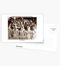 TOUR DE FRANCE; Vintage Cycle Racing Advertising Photo Postcards