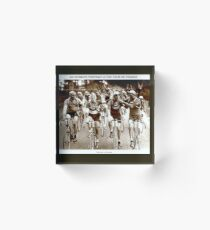 TOUR DE FRANCE; Vintage Cycle Racing Advertising Photo Acrylic Block