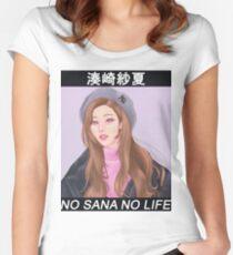 NO SANA NO LIFE   SANA MINATOZAKI - TWICE Women's Fitted Scoop T-Shirt