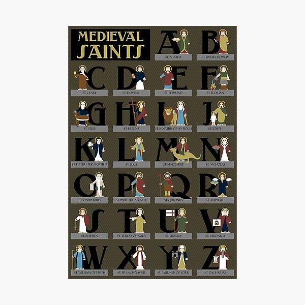 Medieval Saints Alphabet Photographic Print