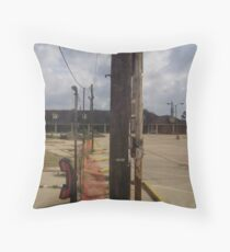 Abandoned Shopping Center Throw Pillow