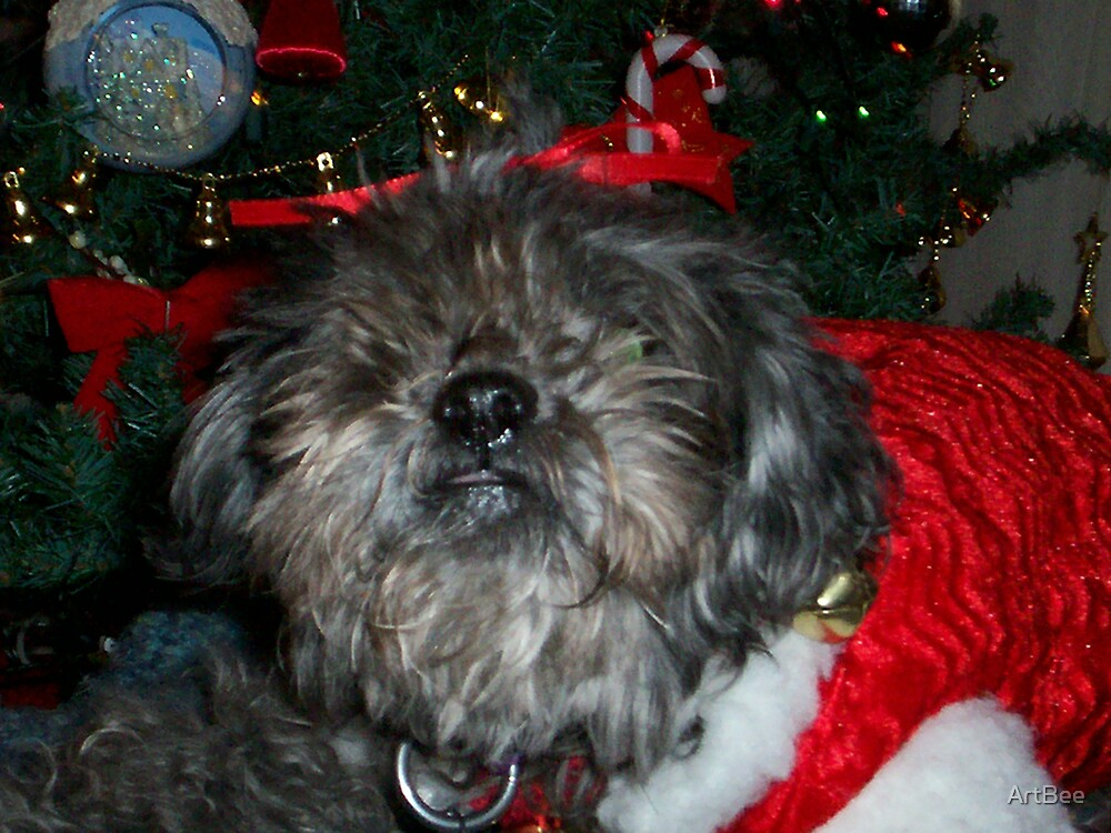 Tippy the Christmas tree guard dog by ArtBee