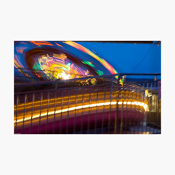 Nighttime Rides Photographic Print