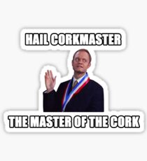 The master of the cork Sticker