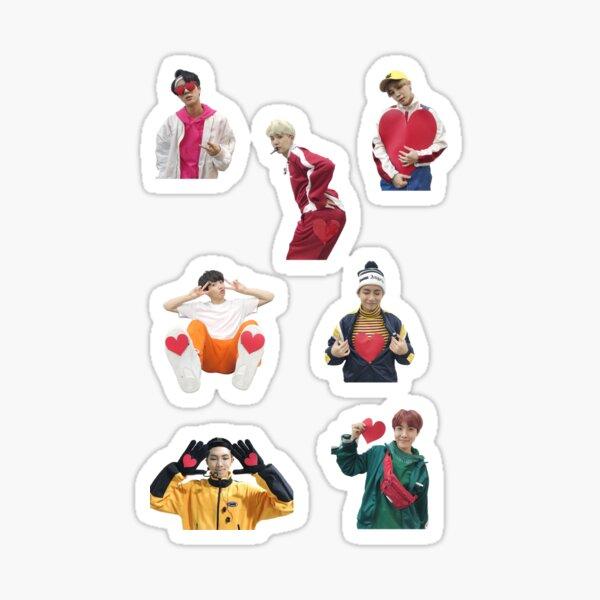 BTS gogo corazones de MBC NYE Pegatina