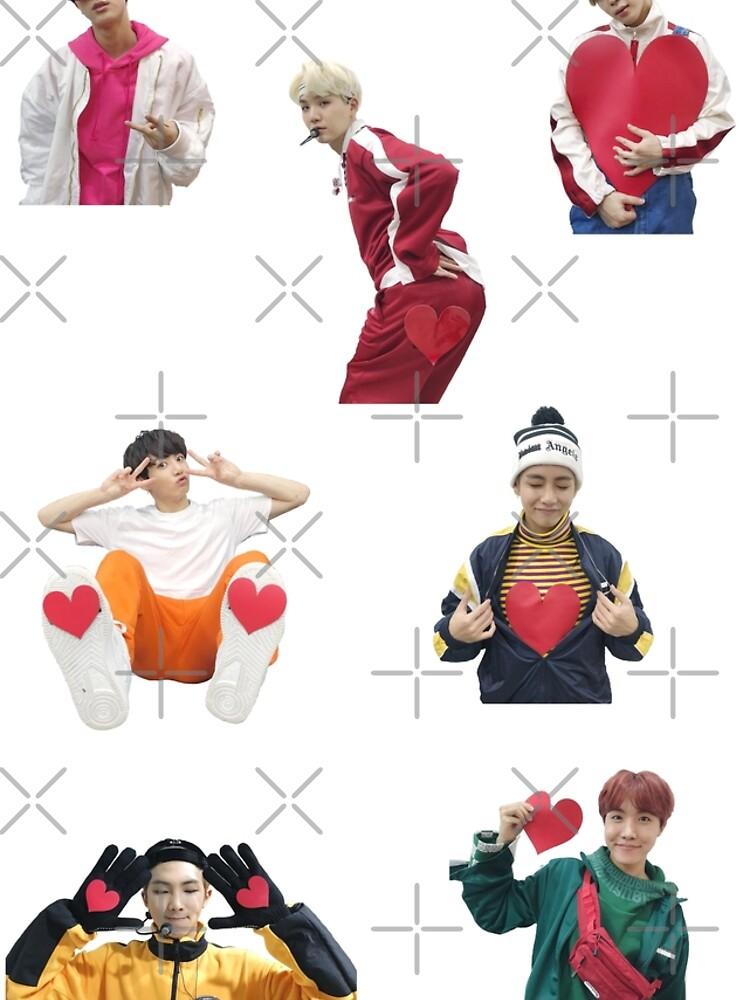 BTS gogo corazones de MBC NYE de KatieSaunders00