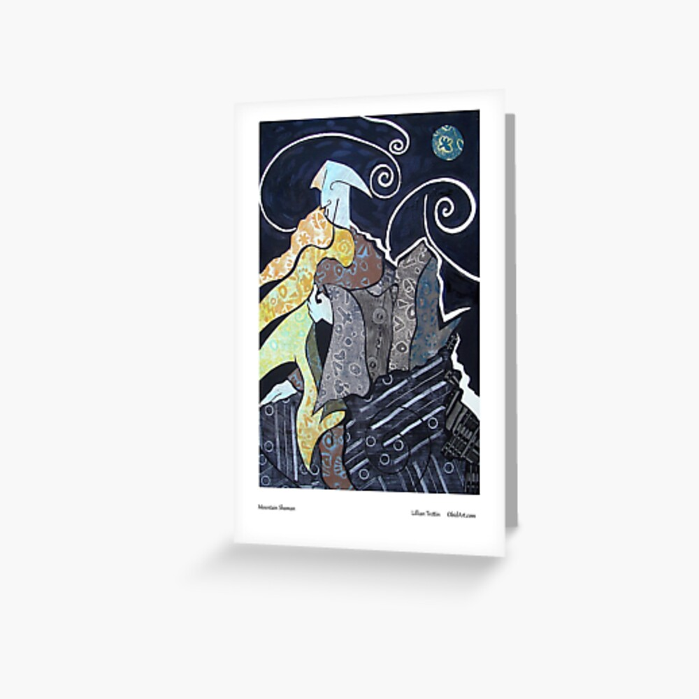 Mountain Shaman Greeting Card