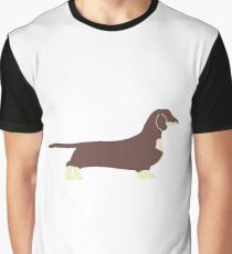dachshund chocolate and cream silhouette Graphic T-Shirt