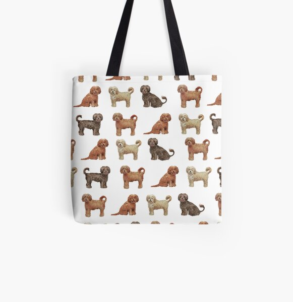 Labradoodle / Dog All Over Print Tote Bag