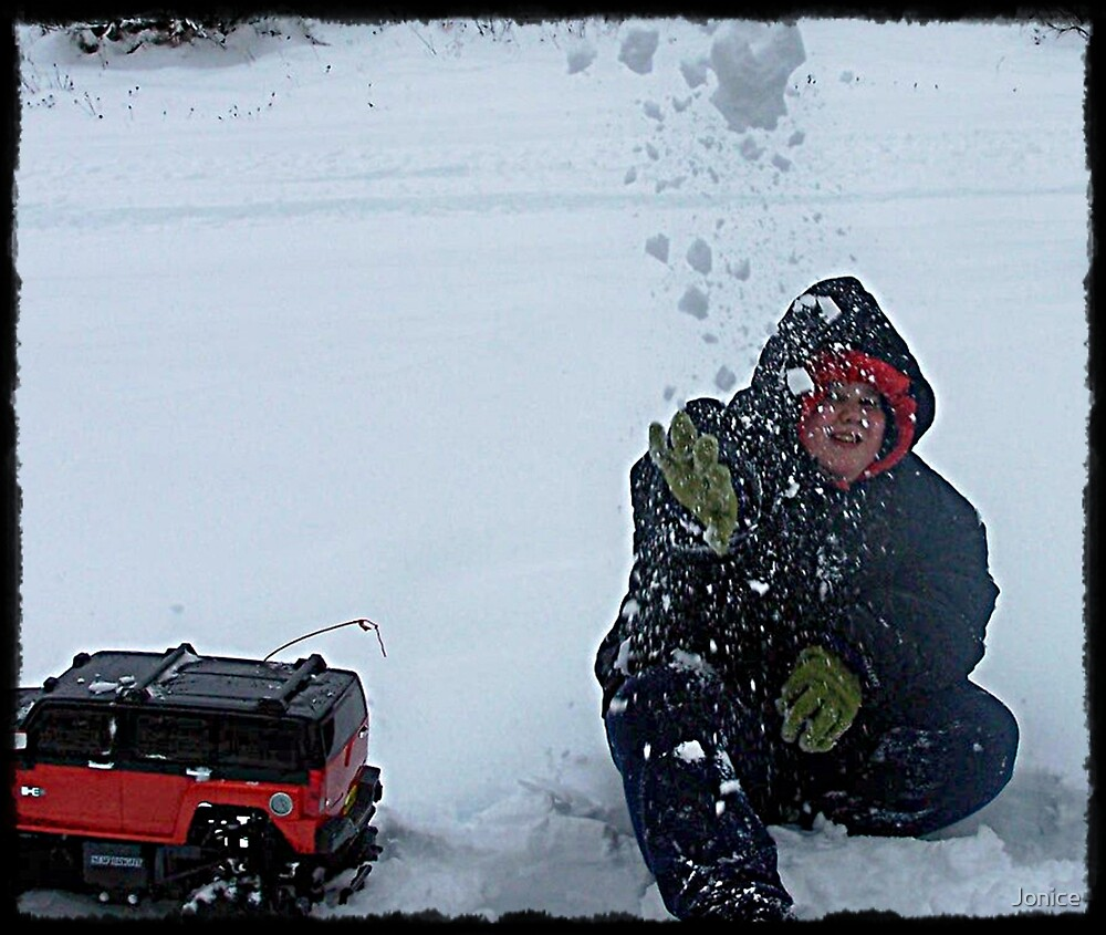 Michael Throwing Snow Ball At Me by Jonice
