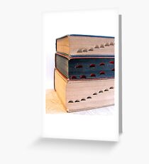 Old Dictionaries Angled Greeting Card