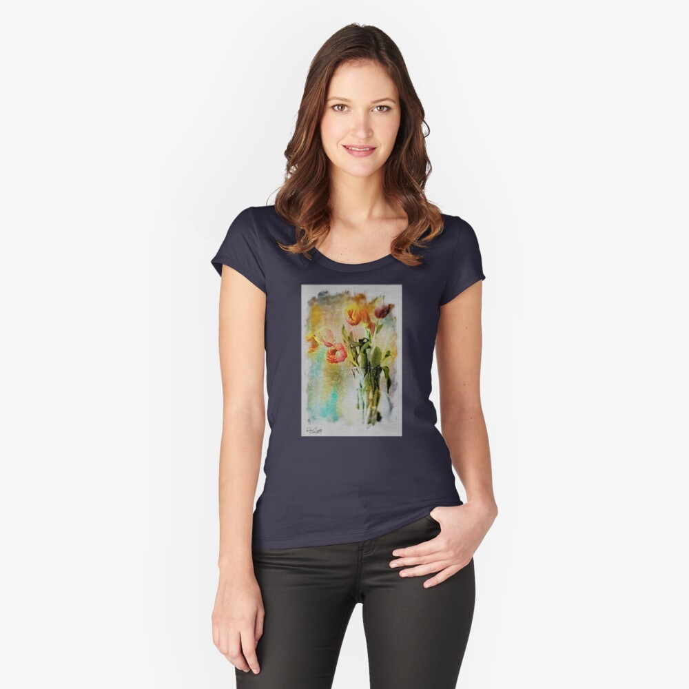 Dreaming of Tulips Fitted Scoop T-Shirt
