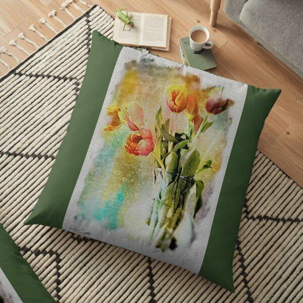Dreaming of Tulips Floor Pillow