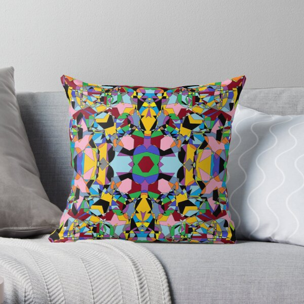 Motley chaotic pattern - Chaos Throw Pillow
