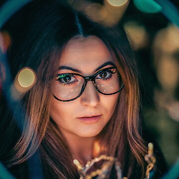 Beautiful young woman with glasses by alexstreinu