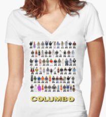Columbo - The Murderers Women's Fitted V-Neck T-Shirt